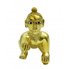 Beautiful Super Fine Ashtadhatu Finishing Laddu Gopal Idol