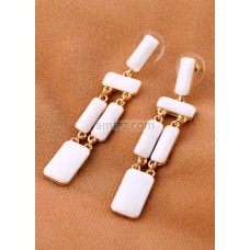 Modern Baguette Metal Pierced Fashion Earrings for Women