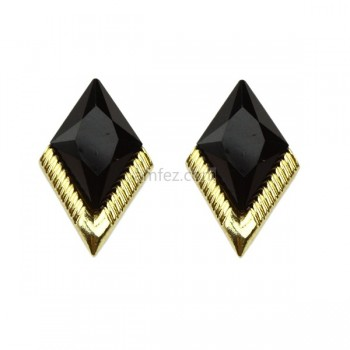 Black Rhombus Fashion Earring