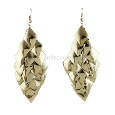 Latest Design Gold Color Alloy Drop Earrings