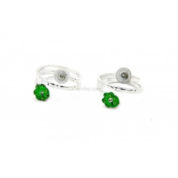 A Pair of Round Shape Alloy Toe Rings