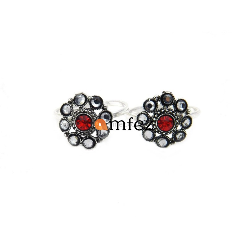 A Pair of Multi Color Alloy Toe Rings