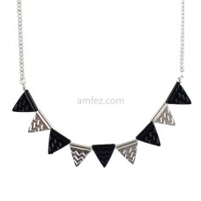 Black Hot Triangle Geometric Short Necklace for Women