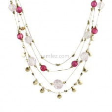 Multilayer Colorful Beads Cute Chain Necklace