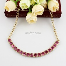 Pink Diamond Chain Necklace for Women for Party